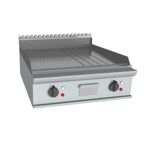 Fry top electric cu suprafata neteda/striata, 800x900mm