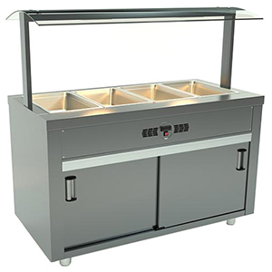 Bufet bain marie, 4 cuve GN1/1