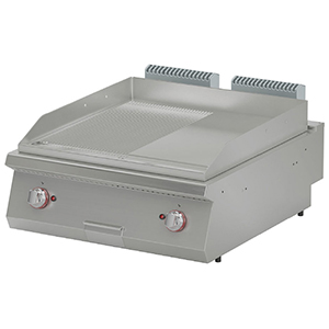 Fry top electric cu suprafata neteda/striata, 800x900x280mm